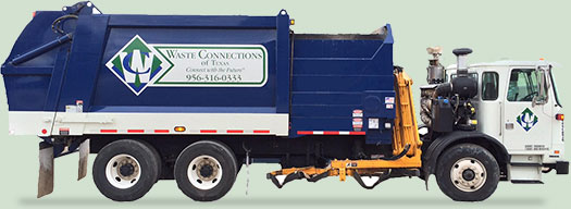 Image of Waste Connections truck.